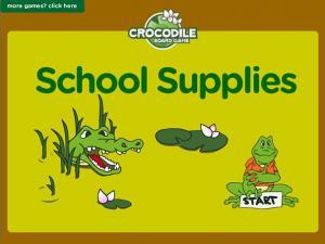 School supplies - board game