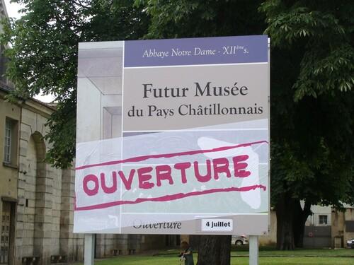 L'Ouverture du Musée du Châtillonnais