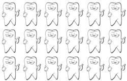 les dents tombées