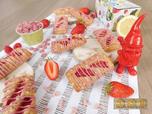 Financiers aux fraises ruby
