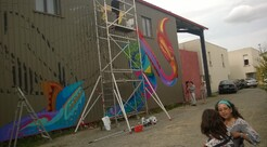 15 juin : inauguration de la fresque du hangar