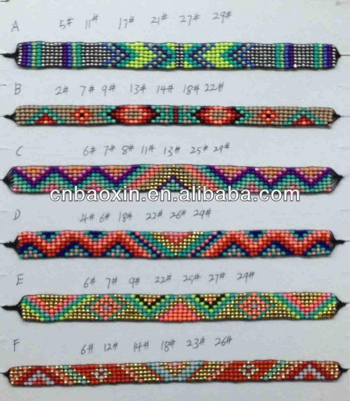 Gut bekannt Bracelets tissés en perles - La fabrique de couleurs NJ15