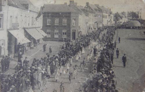 TRAZEGNIES (Courcelles) - Inauguration Hôtel Communal - Souvenir des fêtes 11 mai 1913