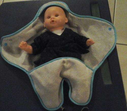 Couverture baby nomade pour poupon !