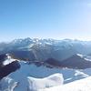 Du sommet du pic Lasnères (2000 m), panorama du Midi de Bigorre au Midi d'Ossau