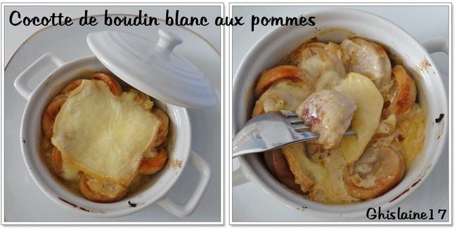 Mini-cocottes de boudin blanc aux pommes
