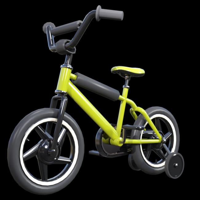 Tube de bicyclette pour enfant (render-image)