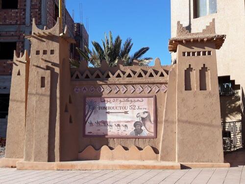 Le célèbre panneau de Zagora