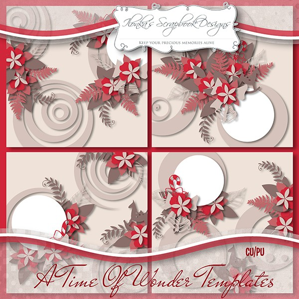 "Template pack ""A Time Of Wonder"" by Ilonka's Scrapbook Designs"