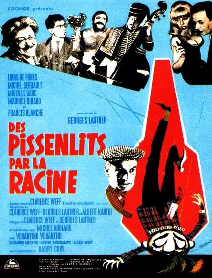 DES PISSENLITS PAR LA RACINE -LOUIS DE FUNES / GEORGES LAUTNER