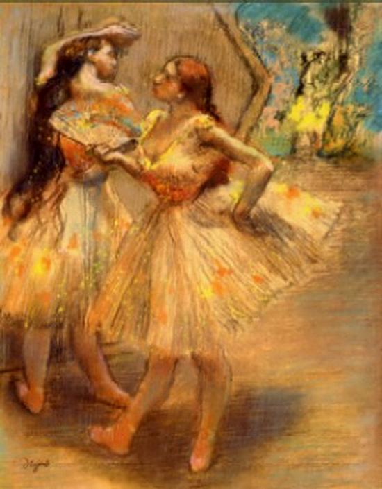 Edgar Degas, Danseuse près d'un portrait