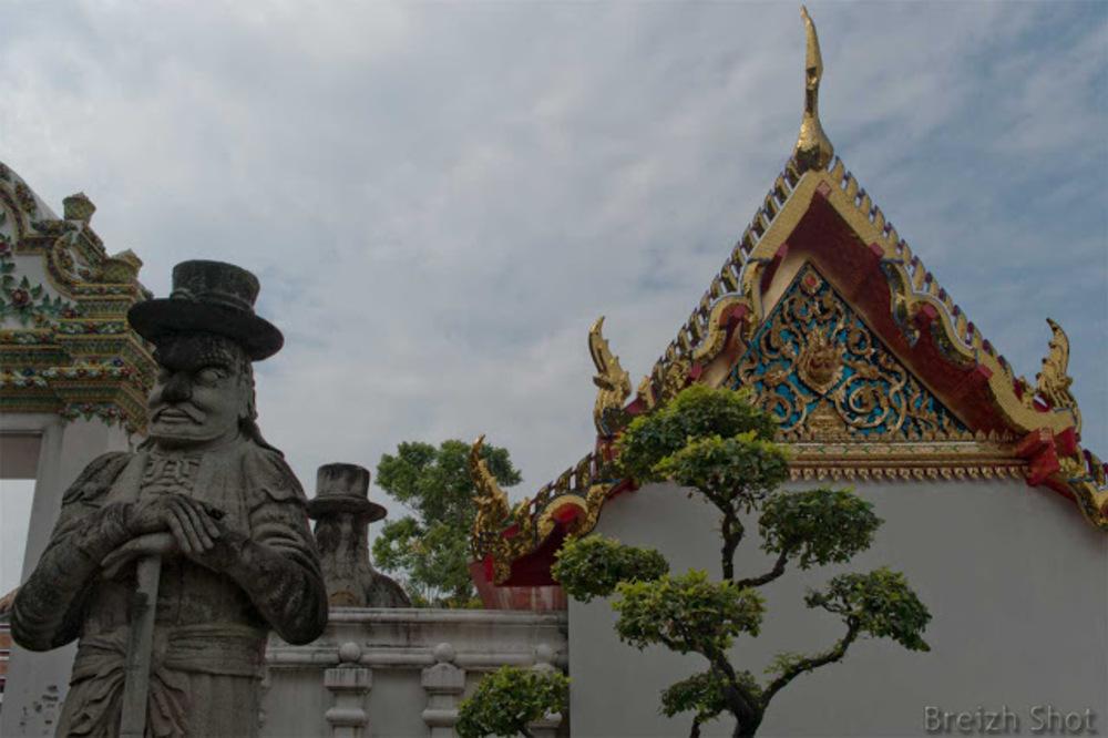 Wat Pho :  Les statues de  Chine au 19e siècle