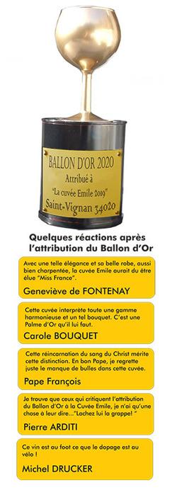 Ballon d'or pour la Cuvée Emile