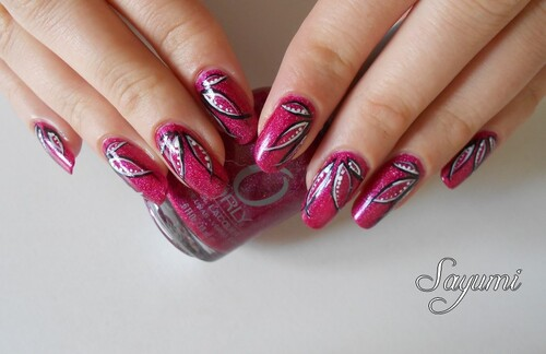 Nail Art Holo Leaves
