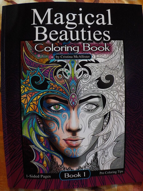 DOMANDALAS  coloriage magical beauties tome 1 court diviner Cristina Mcallistair