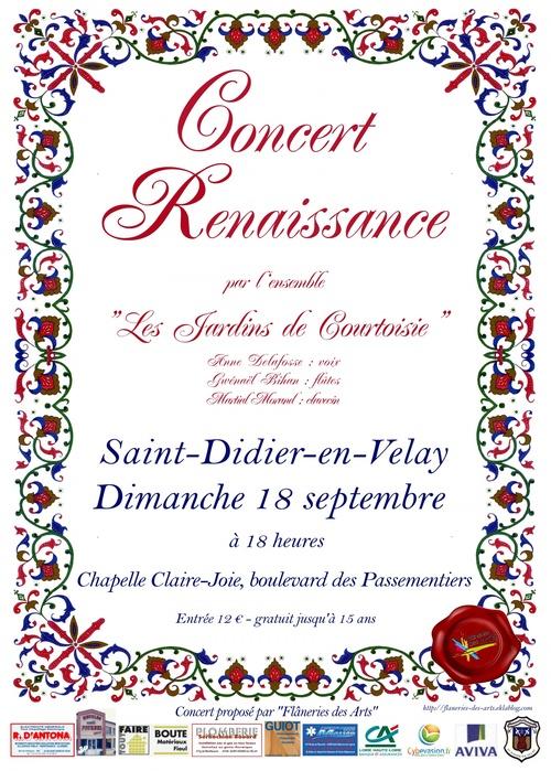 CONCERT RENAISSANCE - 18 SEPTEMBRE 2011