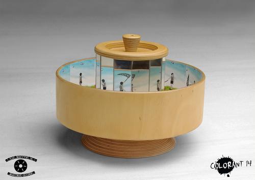Praxinoscope bois de La boîte à Balbu-Ciné