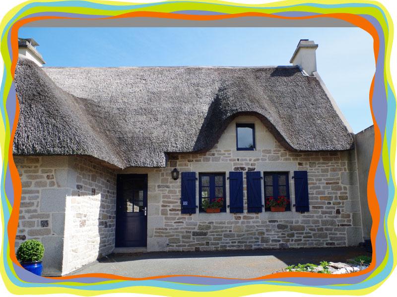 Kerascoët  Maisons au toit de Chaume 29920 Nevez