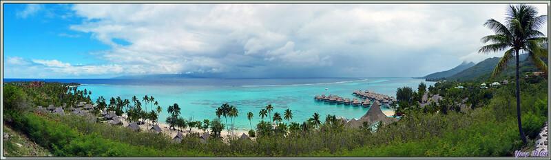 La plage de Teavaro depuis le point de vue de Toatea - Moorea - Polynésie française