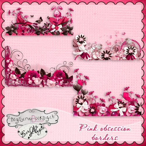 "Kit ""Pink obsession"" de Scrap'Angie"