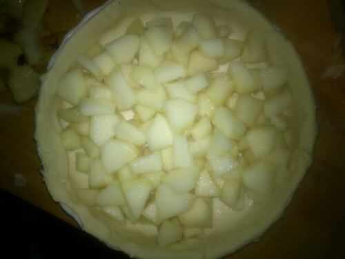 Tarte à la Noix ...et aux poires pour le défi à la noix