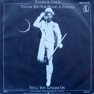 Andrew Gold - Thank You For Being A Friend - 1978
