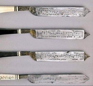Des couteaux musicaux ...