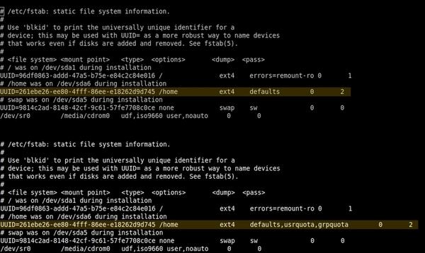 Mettre en place des quotas sous Debian