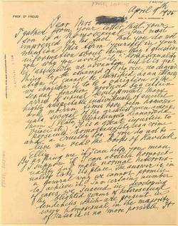 Lettre de Freud : « J'imagine que vous me demandez si je peux supprimer l'homosexualité... »