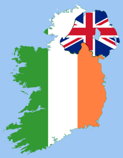Ireland as an independent country with religious conflicts