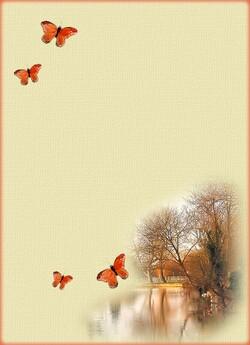 Papier à lettre automne, fond de page