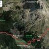 Première moitié de l'itinéraire du Tour du pic du Midi d'Ossau (Google Maps)