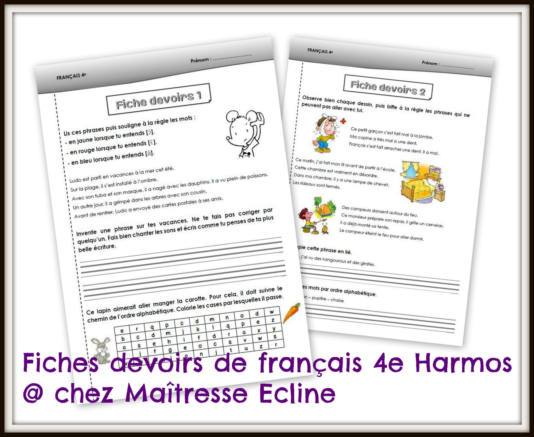 Célèbre Français 4e Harmos (CE1) - Chez maîtresse Ecline BA54