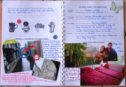 Un livret sur l'Angleterre (voyage scolaire)