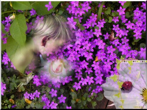 pour vos créations : fleur enfant