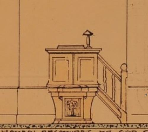 Chaire de lecture (Temple de Schaerbeek, arch. Jean Tombeur)