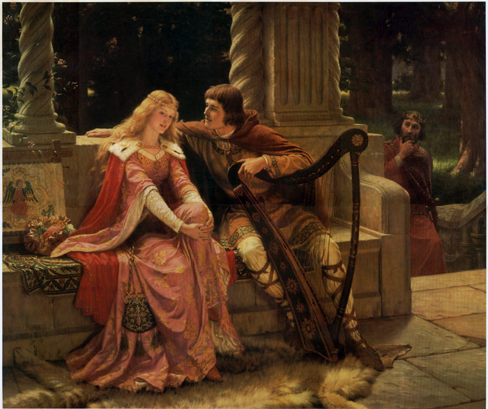 Tristan and Isolde, 1902 Leighton, Edmund Blair Painting Reproductions