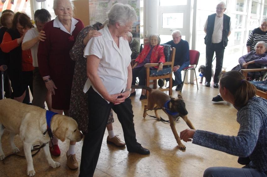 Visite à la maison de retraite de Marennes