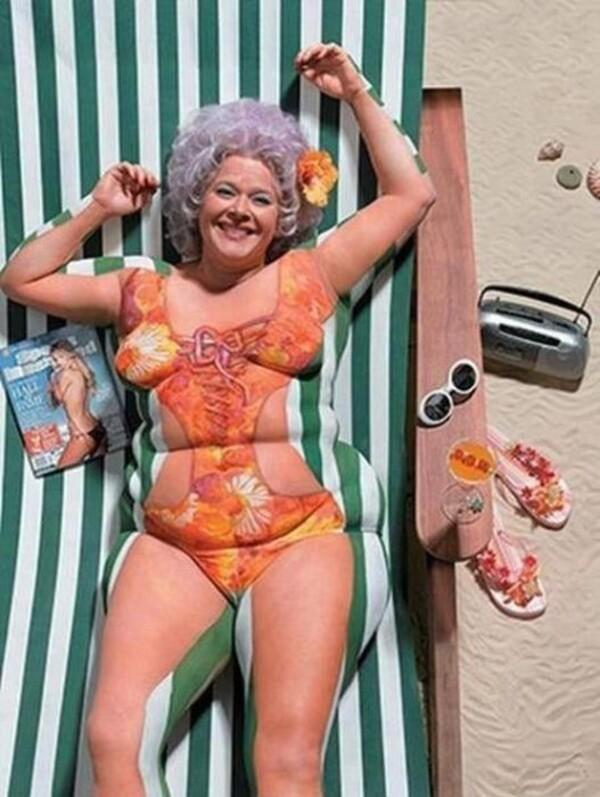 Body Painting pour maigrir images droles