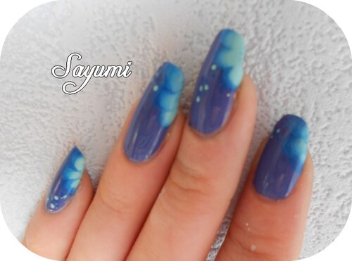 Nail Art Water Flower