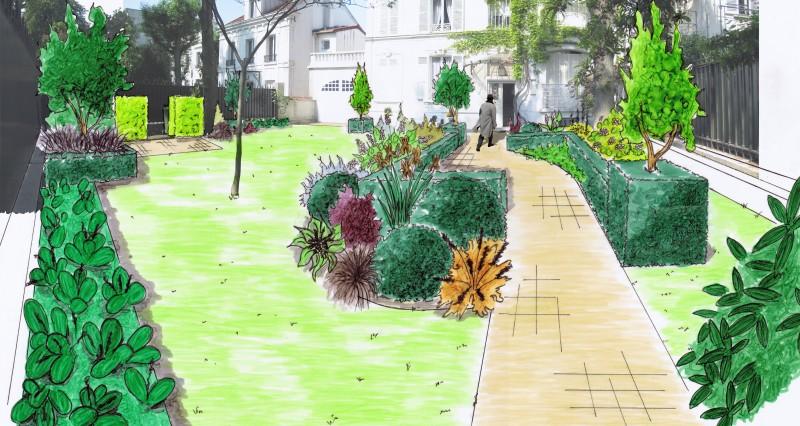 Travaux de la commission espaces verts r sidence les for Espace vert paysagiste
