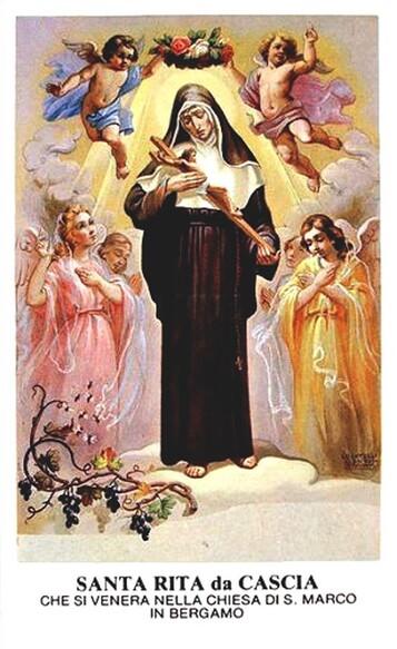 Sainte Rita, prière pour les couples et les familles