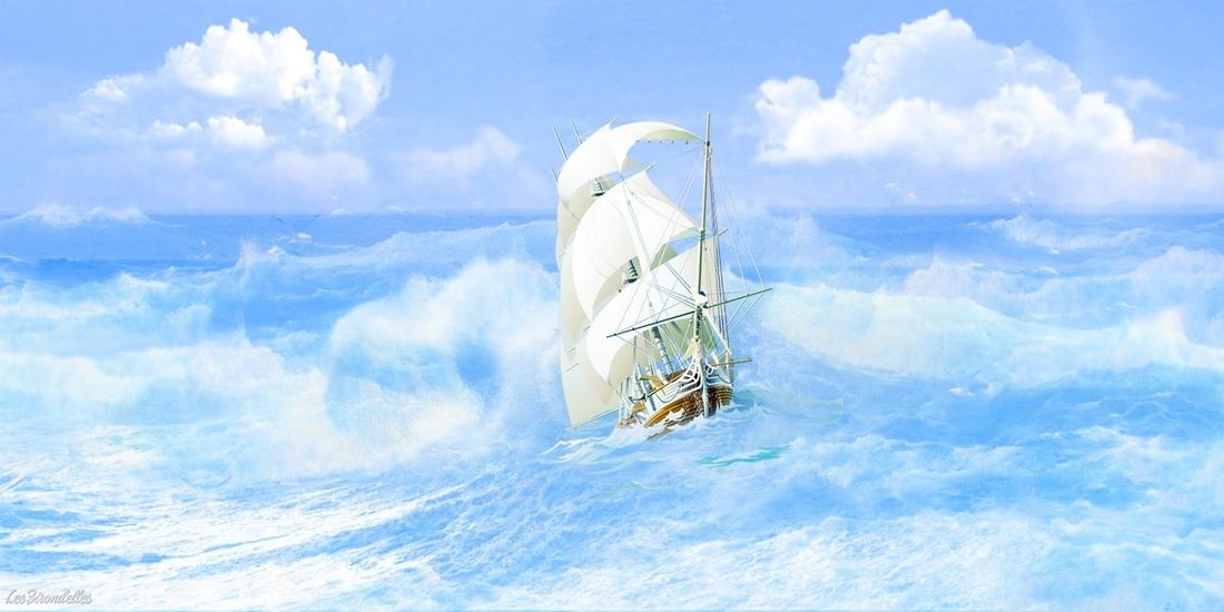 Grands fond thème la mer, Un bateau