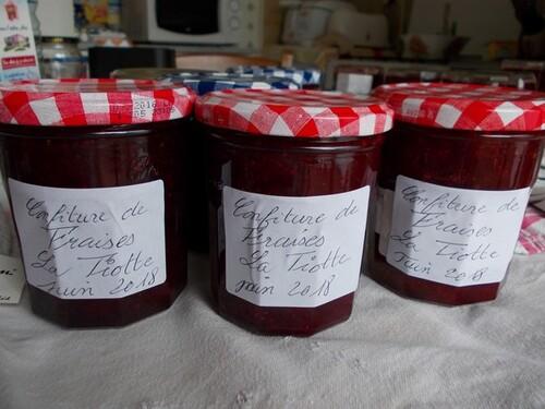 La confiture de fraises de La Tiotte.