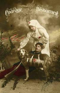 Infirmière de la croix rouge 1914. Ange laïc, carte postale
