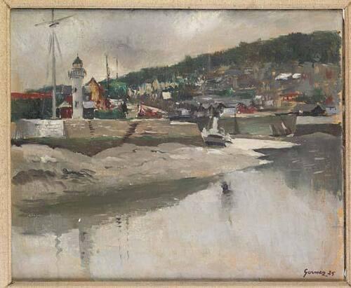 peinture représenant Honfleur