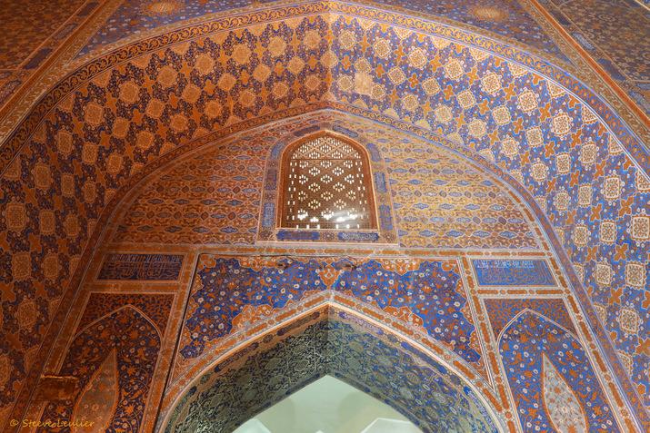 La mosquée de la médersa Tilla-Qari, Samarcande