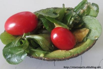 Salade et Avocat