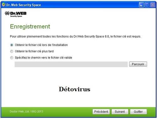 Dr.Web Security Space 8 - Licence 45 jours gratuits