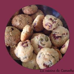 Cookies parmesan, saucisson et olives vertes